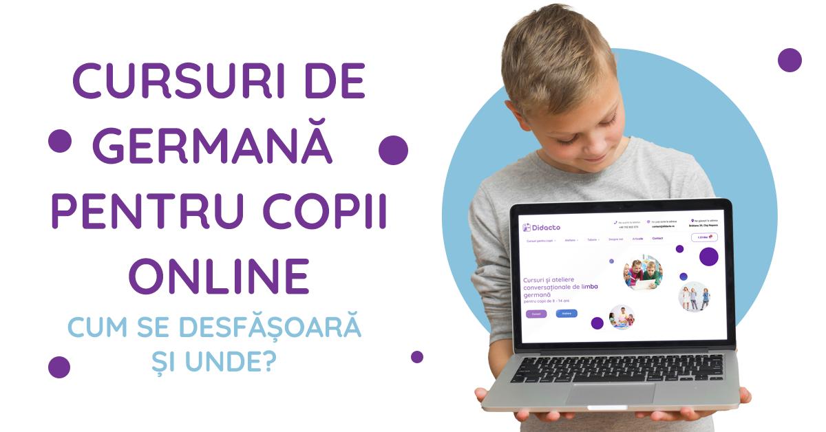 Cursuri de germană pentru copii online - cum se desfășoară și unde?