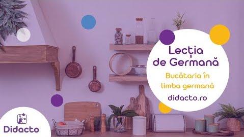 Bucataria in germana - Lectii de germana gratuite pentru copii