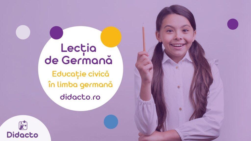 Educatie civica in germana - Lectii de germana gratuite pentru copii
