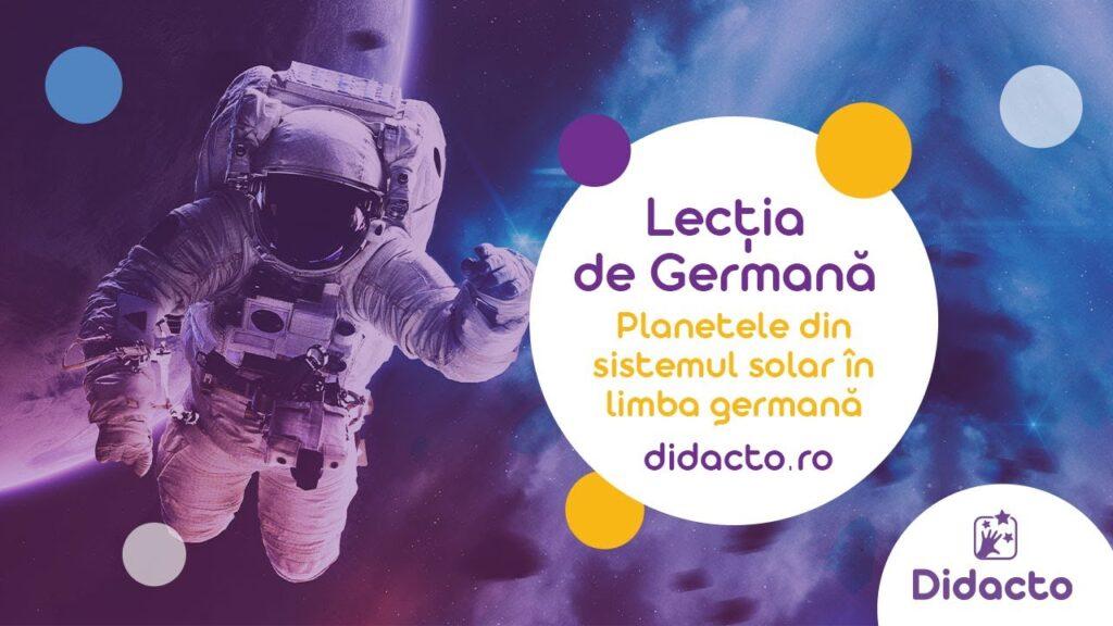 Planetele in limba germana - Lectii de germana gratuite pentru copii