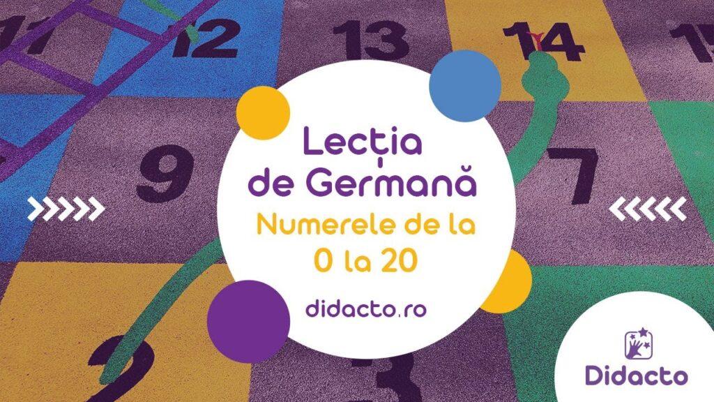 Numerele in germana de la 0 la 20 - Lectii gratuite de germana pentru copii
