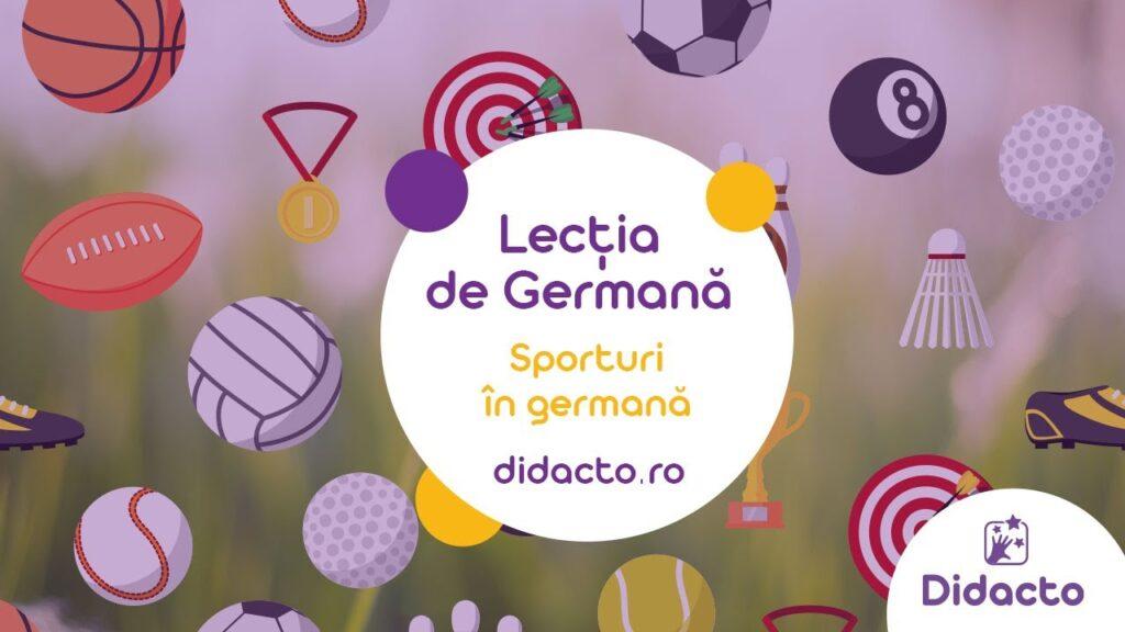 Sporturile in germana - Lectii de germana gratuite pentru copii