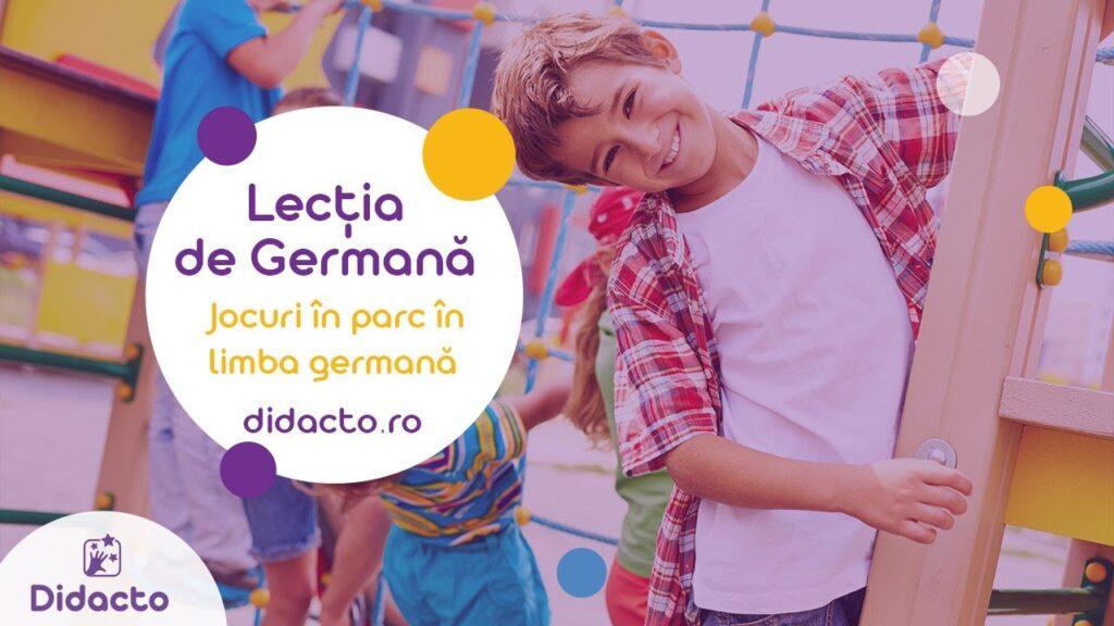 Jocuri în parc în germana - Lectii de germana gratuite pentru copii