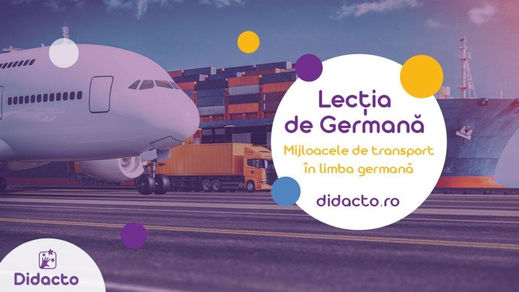Mijloacele de transport in germana - Lectii de germana gratuite pentru copii