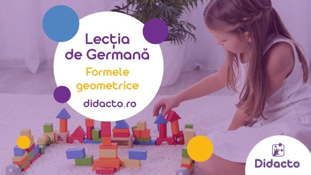 Formele geometrice in germana - Lectii de germana gratuite pentru copii