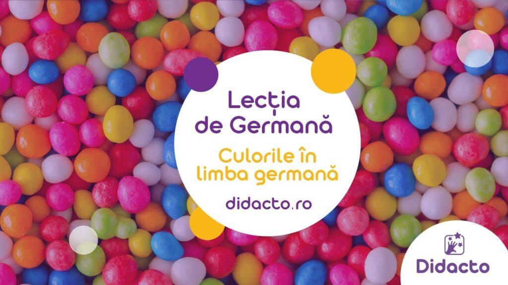 Culorile in limba germana - Lectii de germana gratuite pentru copii