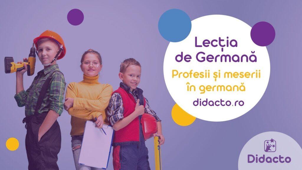 Profesii si meserii in germana - Lectii de germana gratuite pentru copii