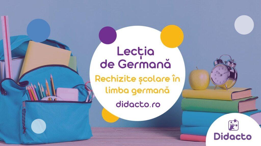 Rechizitele in germana - Lectii de germana gratuite pentru copii