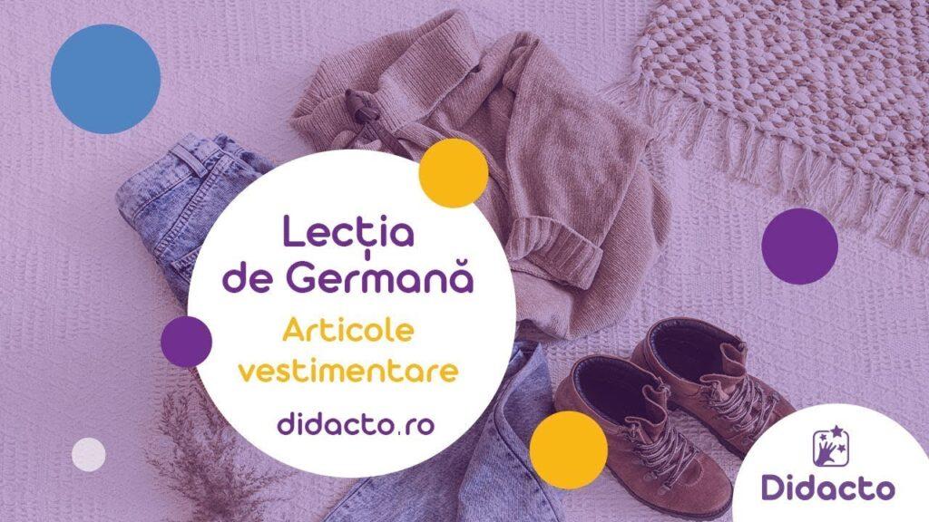 Articole vestimentare in germana - Lectii de germana gratuite pentru copii