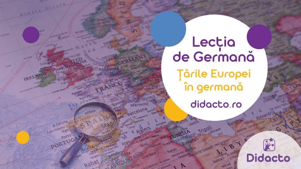 Tarile europei in germana - Lectii de germana gratuite pentru copii