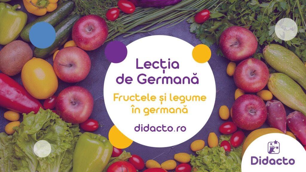 Fructele in germana si legumele in germana - Lectii de germana gratuite pentru copii