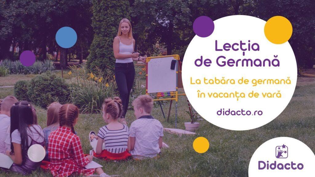 La tabăra de germană în vacanța de vară - Lectii de germana gratuite pentru copii