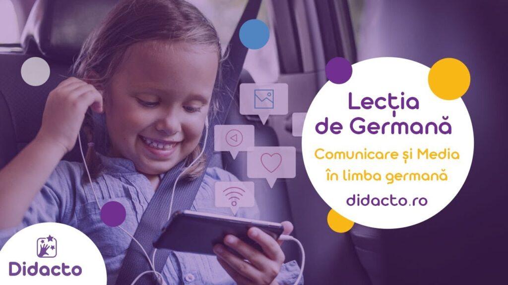 Comunicare si media in germana - Lectii de germana gratuite pentru copii